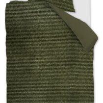 AHWM Dekbedovertrek Cosy Corduroy Green 140x200 Beddengoed Katoen