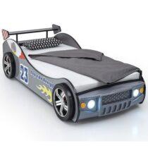Autobed Race Zilver Met Verlichting Kinder- / Tienerkamers