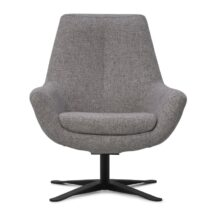 Montel Fauteuil Charles Low White Grey Fauteuil Stof